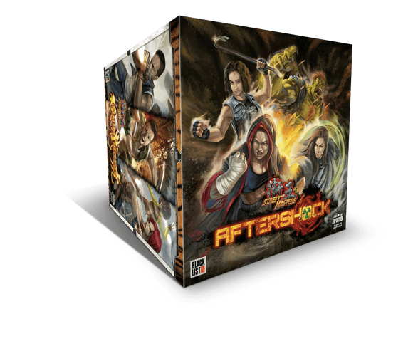 Street Masters: Aftershock Super Street Masters Combo Tier Pledge Bundle (Kickstarter Pre-Order Special) Kickstarter Board Game Blacklist Games