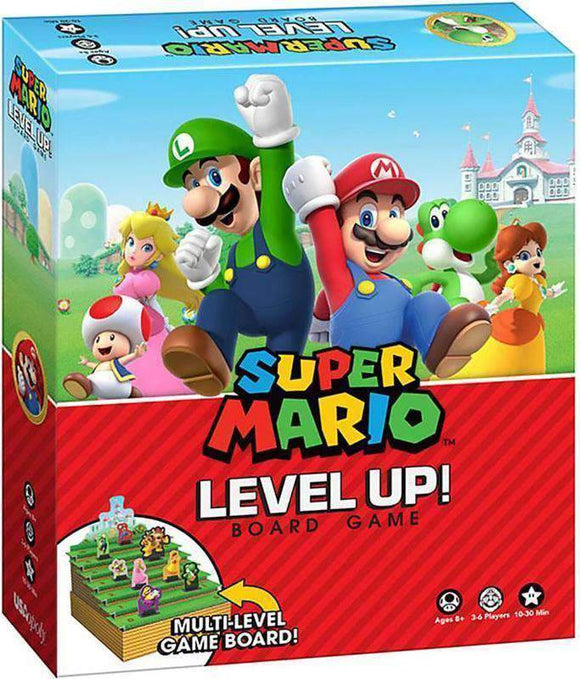 Super Mario Level Up! Retail Board Game USAopoly