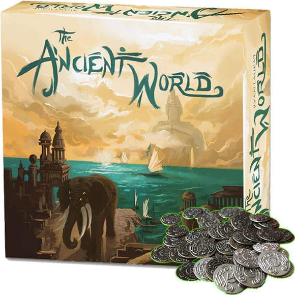 The Ancient World Second Edition Plus Metal Coins Bundle (Kickstarter Special) Kickstarter Board Game Red Raven Games