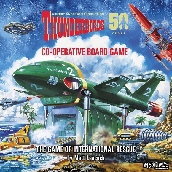 The Thunderbirds Co-operative Board Game Retail Board Game ASYNCRON games 74386696 KS000325
