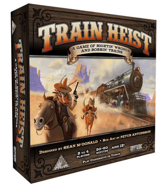 Train Heist: A Game of Rightin' Wrongs And Robbin' Trains Retail Board Game Cryptozoic Entertainment Tower Guard Games 0814552020665 KS000813