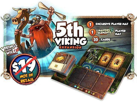 Vikings Gone Wild: 5th Viking Expansion (Kickstarter Special) Kickstarter Board Game Accessory Corax Games KS000072E