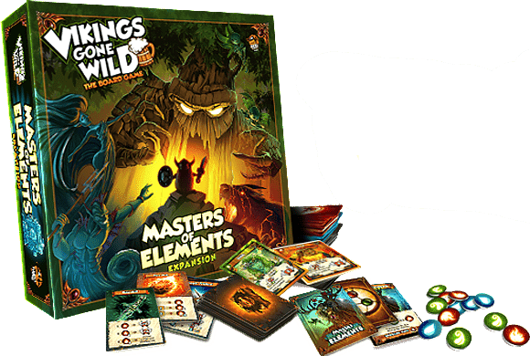 Vikings Gone Wild: Master of Elements (Kickstarter Special) Kickstarter Board Game Expansion Lucky Duck Games