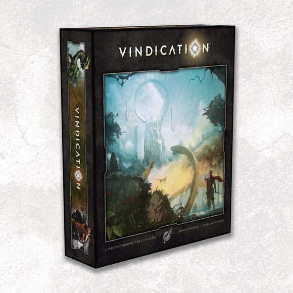 Vindication: Bundle with Upgraded Components (Retailer Special) Kickstarter Board Game Orange Nebula