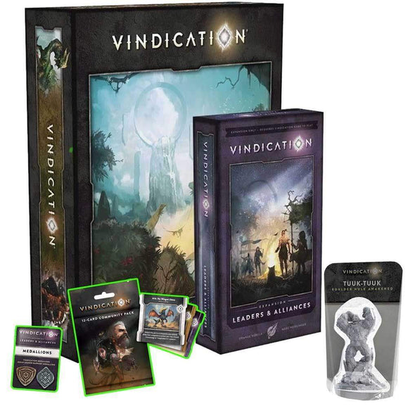 Vindication: Swanky Edition with Upgraded Components Plus Leaders and Alliances Expansion Bundle (Kickstarter Special) Kickstarter Board Game Orange Nebula