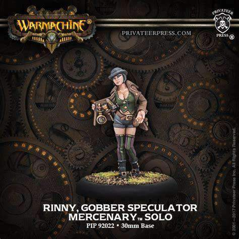 Warmachine: Mercenaries Rinny Gobber Speculator (Convention Exclusive) Retail Board Game Privateer Press Ulisses Spiele 0875582022227 KS000795