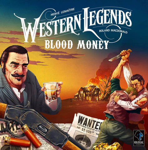 Western Legends: Blood Money Expansion Bounty Hunter Pledge Bundle (Kickstarter Pre-Order Special) Kickstarter Board Game Expansion Kolossal Games KS000731B