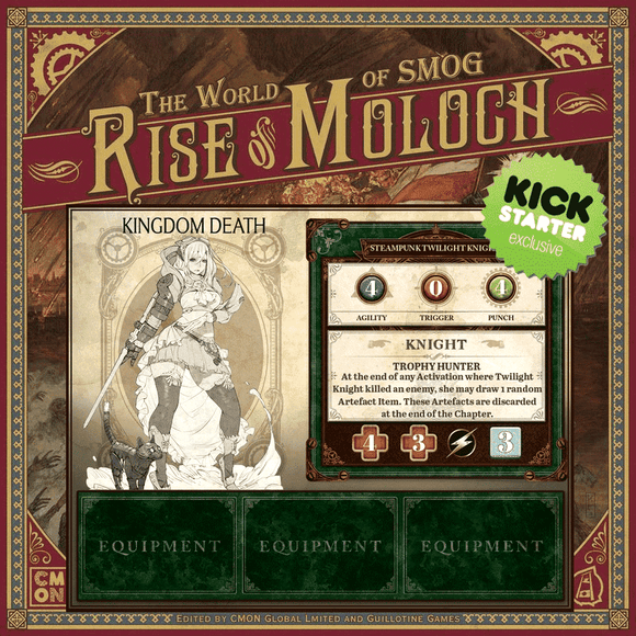 World of SMOG: Kingdom Death Monster Steampunk Twilight Knight (Kickstarter Special) Kickstarter Board Game CMON Limited