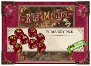 World of SMOG: Rise of Moloch - Burgundy Dice (Kickstarter Special) Kickstarter Board Game CMON Limited