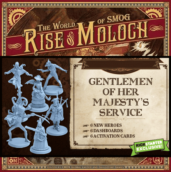 World of SMOG: Rise of Moloch - Gentleman of Her Majesty's Service (Kickstarter Special) Kickstarter Board Game CMON Limited 0817009019359 KS000666A