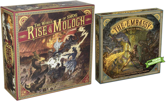 World of Smog: Rise of Moloch with Embassy Expansion (Kickstarter Special) Kickstarter Board Game CMON Limited