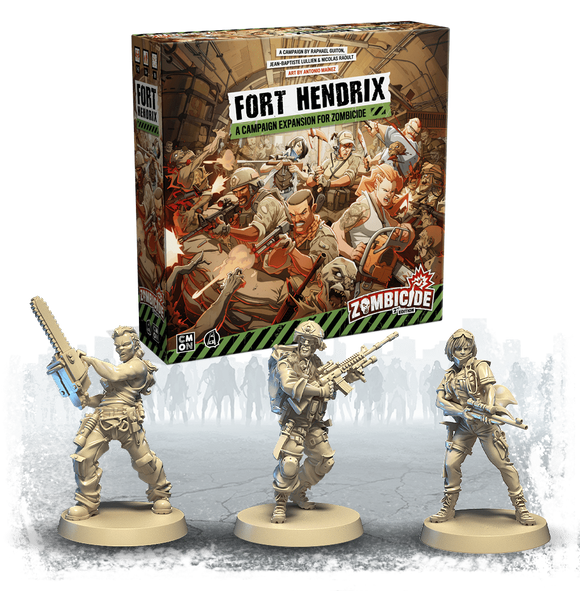 Zombicide: Fort Hendrix Expansion Second Edition Bundle (Kickstarter Pre-Order Special) Kickstarter Board Game Expansion CMON KS000781J