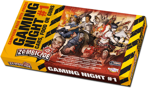 Zombicide: Gaming Night #1 Cars, Food or Guns Retail Board Game Supplement CMON Limited 0817009015900 KS000701B