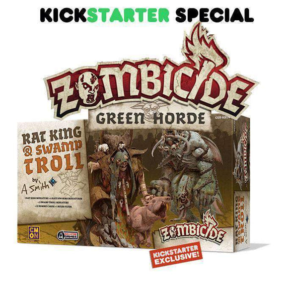 Zombicide: Green Horde Rat King & Swamp Troll (Kickstarter Special) Kickstarter Board Game Expansion CMON Limited KS000716D