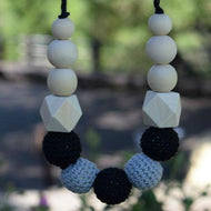 Teething necklace teething baby all natural baby, wood teething jewelry