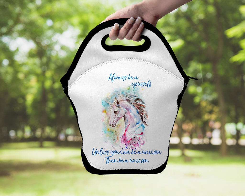 Neoprene Lunch Tote - Always be a Unicorn