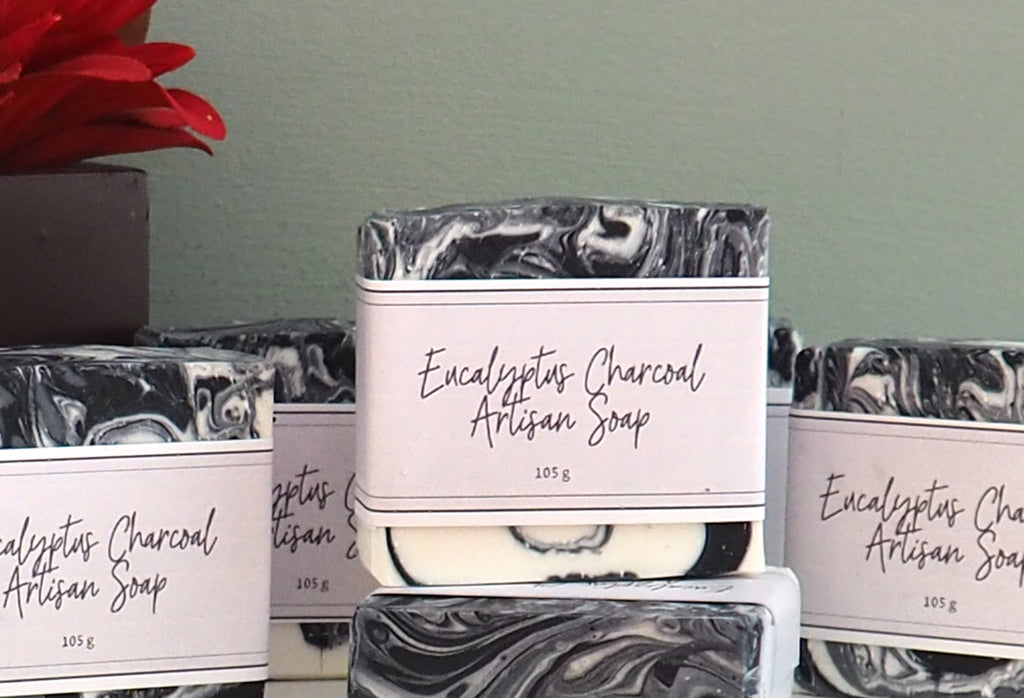 Charcoal Ecalyptus Cold Process Soap