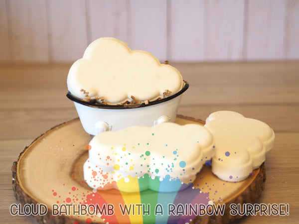 "Cloud ""Rainbow Surprise"" Bath Bomb"