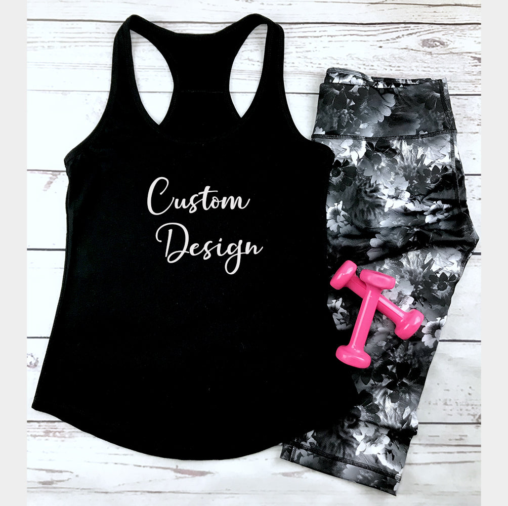 Racerback Tank Top - Customize with a design you like