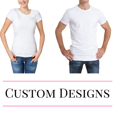 Adult Tshirt with a custom design