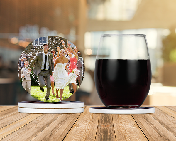 Personalized Glass Coasters (set of 4)