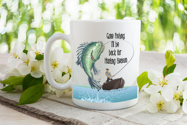 Gone Fishing - Dishwasher Safe Mugs