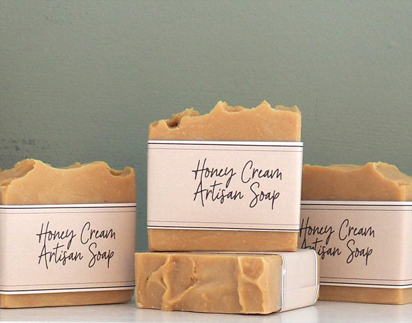 Honey Cream Soap with ground pumice stone
