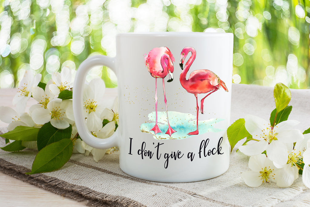 I don't give a flock - Dishwasher Safe Mugs