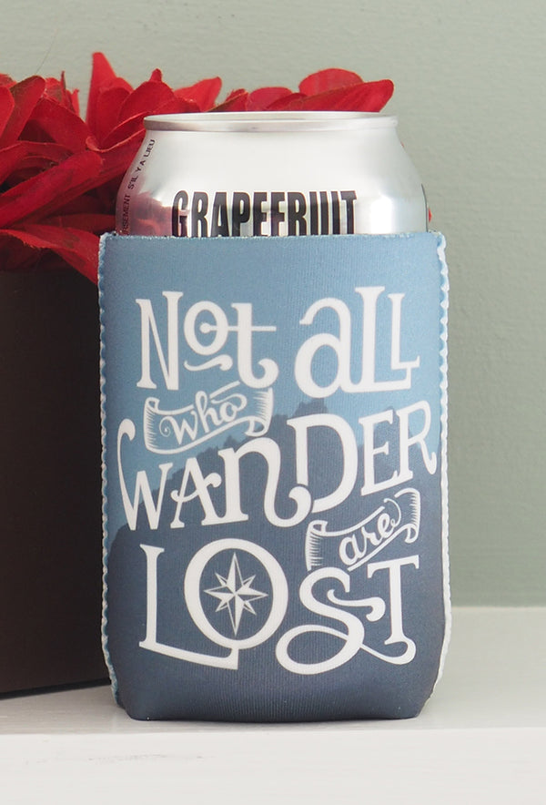Camping Koozies - Not all who wander are lost