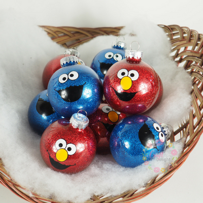 Character Ornaments - Elmo or Cookie Monster