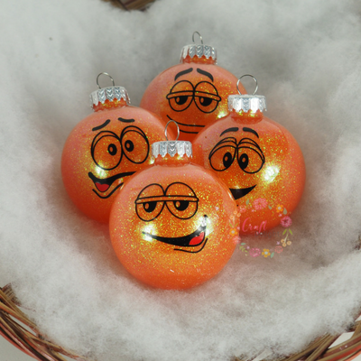Character Ornaments - M&M Faces