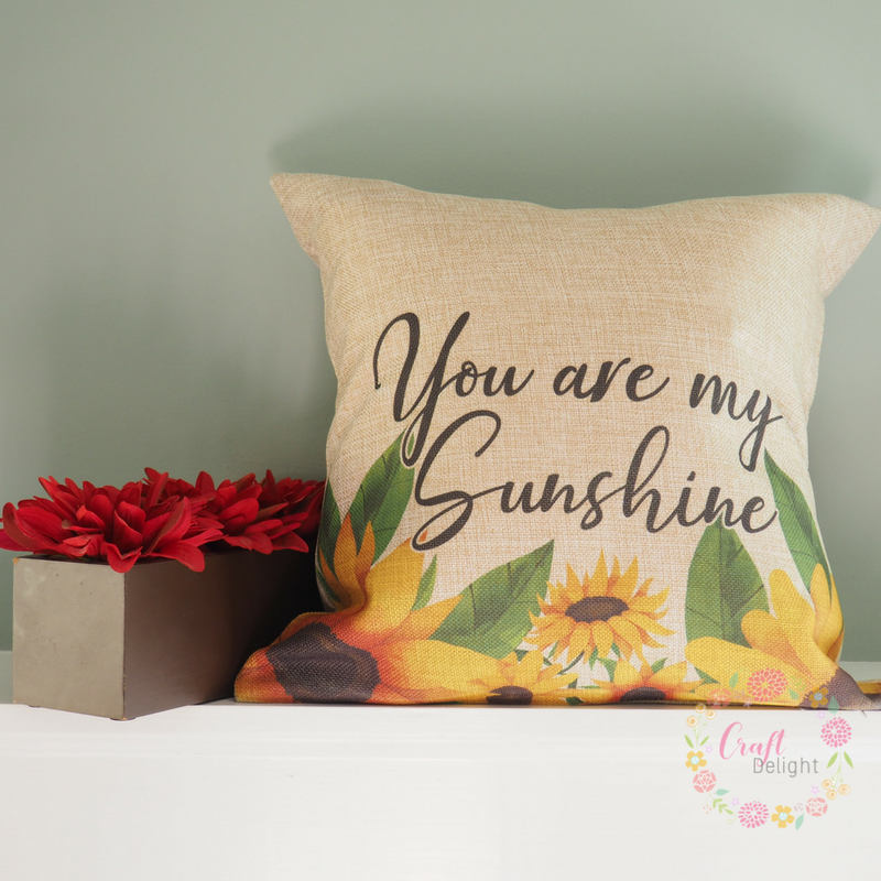 Decorative Pillow Burlap Style You Are My Sunshine Craft Delight Adorable You Are My Sunshine Decorative Pillow
