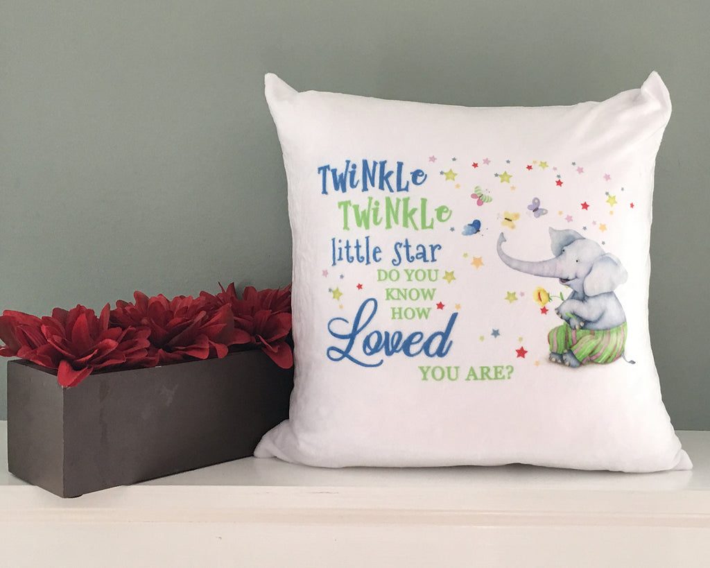Twinkle, twinkle little star pillow - blue or pink options
