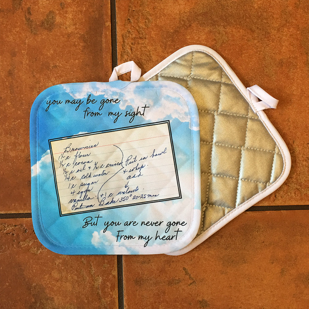 Custom Pot Holders - With a picture of a recipe or the text of a favorite recipe
