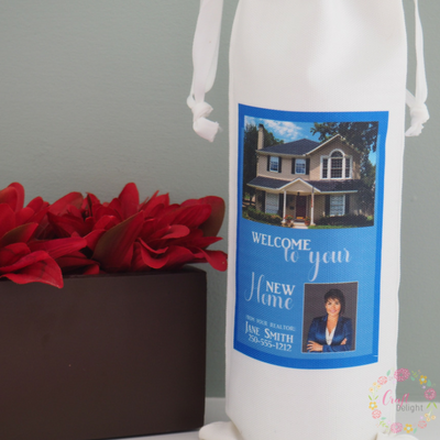 Personalized Realtor Wine Gift Bag