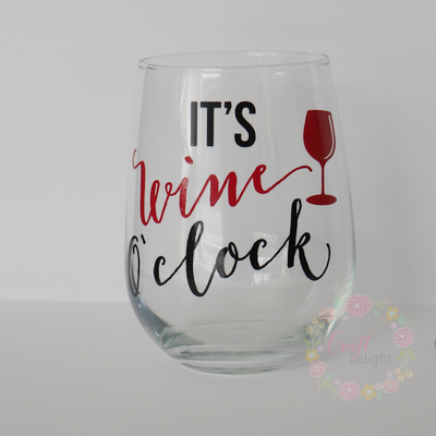 Wine Glasses - Wine O'Clock
