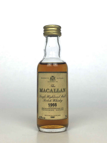Miniature 1966 Macallan 18 Year Old 5cl