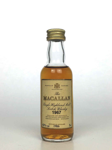Miniature 1967 Macallan 18 Year Old 5cl