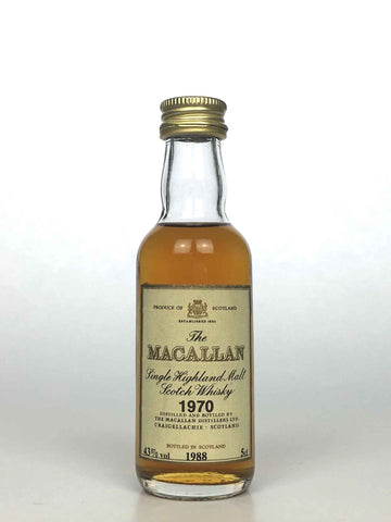 Miniature 1970 Macallan 18 Year Old 5cl