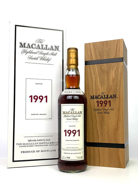 1991 Macallan 25 Year Old Fine and Rare