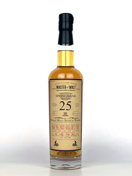 1993 Springbank 25 Year Old Single Cask Master Of Malt