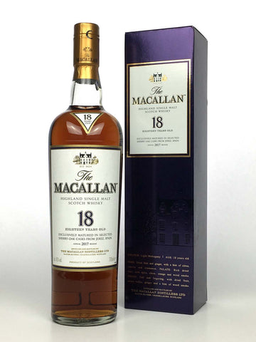 Macallan 18 Year Old Sherry Oak (2017 Release)