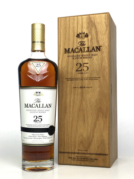 Macallan 25 Year Old Sherry Oak (2018 Release)