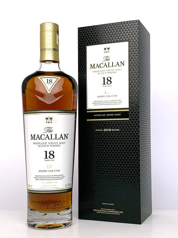 Macallan 18 Year Old Sherry Oak (2019 Release)