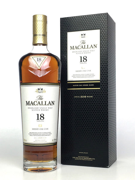Macallan 18 Year Old Sherry Oak (2018 Release)