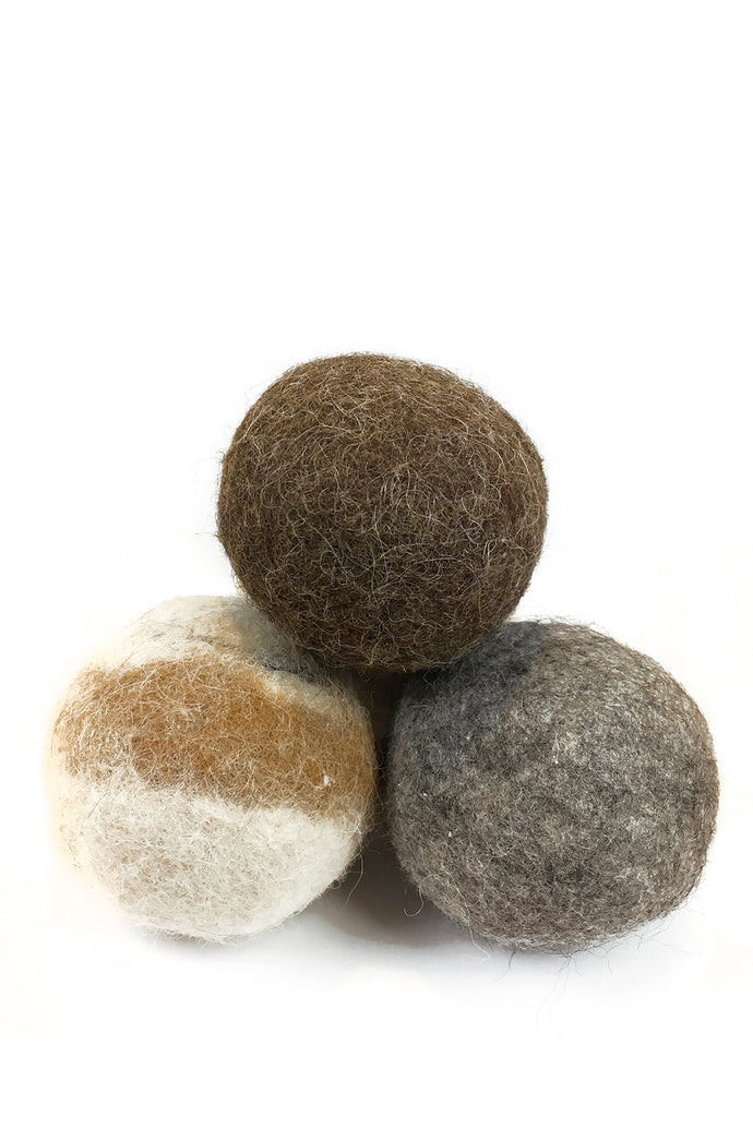 Felted Alpaca Dryer Balls - Set of 3