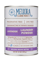 MELIORA Laundry Powder Canister & Refill - 4 Scents
