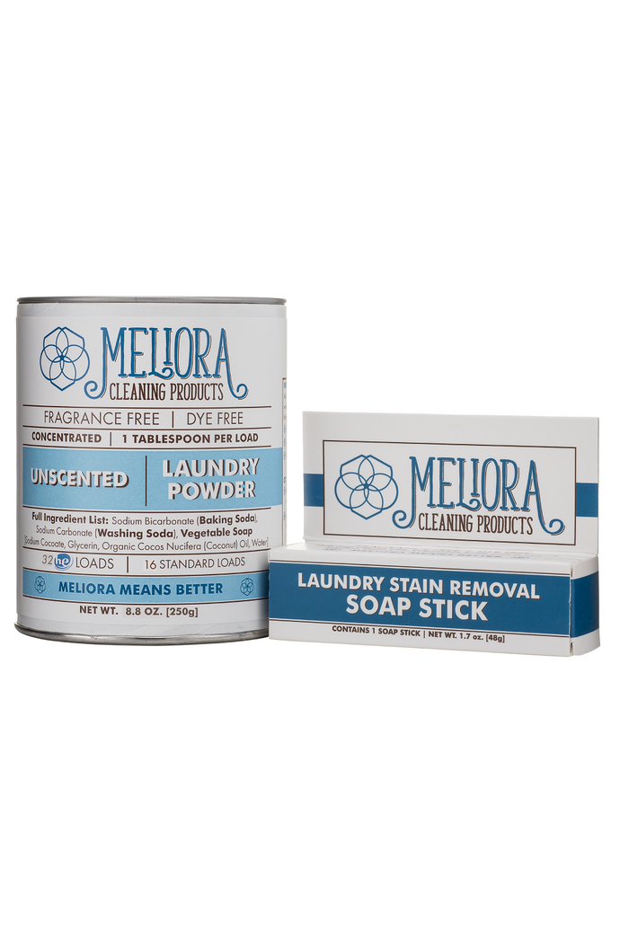 MELIORA Laundry Powder & Soap Stick Starter Kit - 4 Scents