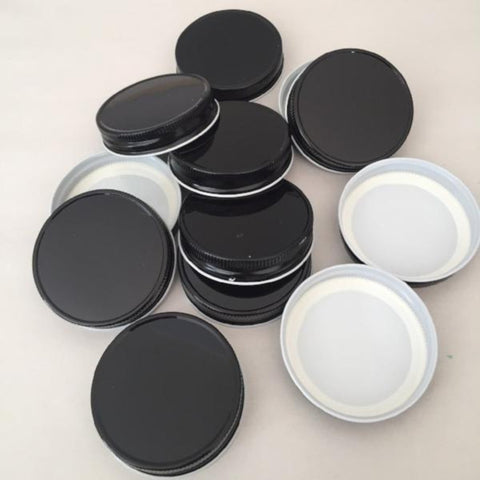 24 Black Mason Jar Canning Lids. Perfect for Hot Fill Canning!