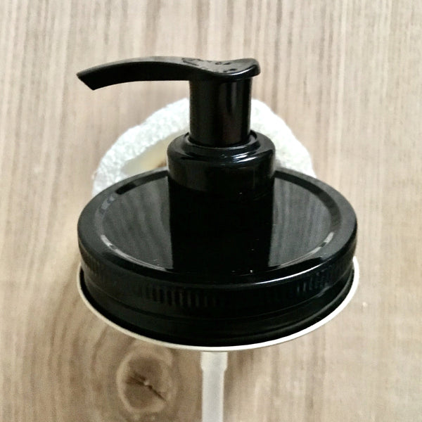 10 Pack :  All Black Mason Jar Soap Dispenser Pump Lids